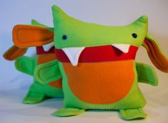 Mr Orange Belly Monster by amonstertolove on Etsy, $40.00