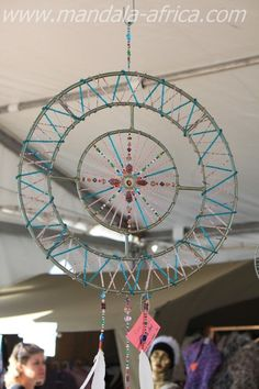Sacred Dream Mandalas are created to be used as a Sun Light Catcher, as well as. a dream catcher, for contemplation and wholeness toward unity Wire Crafts, Bead Crafts, Shabby Chic Garland, Bead Studio, Sun Light, Homemade Christmas Gifts, Sun Catcher, Sacred Art, Wire Art