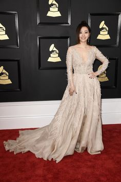 Grammys 2017 Best Celebrity Looks & Frisuren Celebrity Outfits, Celebrity Look, Katy Perry, Rihanna, Grammys 2017, Nude Outfits, Western Dresses, Red Carpet Looks, Red Carpet Fashion