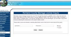 Richland County SC Marriage Licenses
