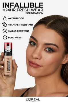Discover Infallible Fresh Wear Foundation by L'Oréal Paris. Get long lasting, medium to full coverage with our lightweight, natural finish foundation for up to 24 hours. Makeup Remover, Makeup Brushes, Beauty Care, Beauty Hacks, Diy Beauty, Beauty Guide, Beauty Secrets, Face Beauty, Homemade Beauty