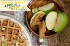 Peanut Butter Apple Raisin Chia Waffles