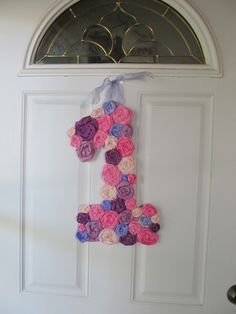 birthday number in streamers flowers. Cupcakes and Tutus First Birthday | CatchMyParty.com