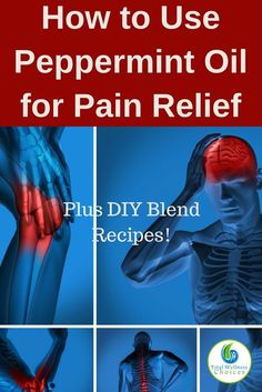 Learn how to use peppermint oil for pain relief, plus simple diy peppermint essential oil blend recipes you can try! via @wellnesscarol