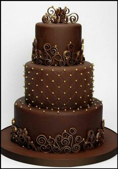 Something pretty and chocolate!  #wedding #cake Wedding Cakes!