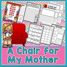 A Chair for My Mother by Vera Williams is an excellent choice as a mentor text for comprehension strategies and for writing. In this book companion set, you have lots of options. It is set up in a before/during/after format for guided reading, but parts can also be used for mentor text lessons and for writing.