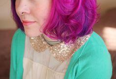 AMAZING purple hair (via The Dainty Squid)