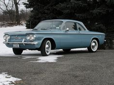 "Corvair 1960 - the seat came down inside to make it look like a ""beach wagon"""
