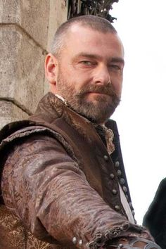 """ray stevenson King Arthur #1  I chose him for King Arthur because he has a weathered and experienced appearance. """"Arthur winced, his fair face flooded hot with shame, and his cheek; he flared as angry as wind and all his people burned. And the bold king strode towards the Green Knight"""" (lines 316-323)."""
