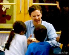 and for my 1880th pin, a gif of Benedict Cumberbatch practicing his daddy skills. you are welcome!!
