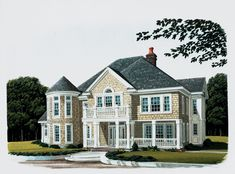 Country House Plan Front of Home - 137D-0009 | House Plans and More