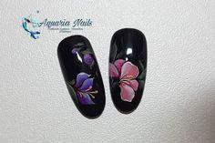 """20 mentions J'aime, 0 commentaires - Aquaria Nails (@aquarianails) sur Instagram: """"Bonjour Nail art façon zhostovo en gel 😊 Produits mnails.  #mnails #nailart #zhostovonailart…"""" Aquarium Nails, Nailart, Nail Designs, Paint, Flowers, Instagram, Bonjour, Picture Walls, Florals"""