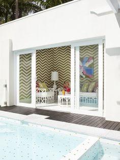 outdoor space fun pool room and modern pool Rinfert LTD