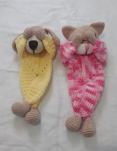 Crochet Lovey, Crochet Bunny Pattern, Crochet Animal Patterns, Stuffed Animal Patterns, Baby Knitting Patterns, Amigurumi Patterns, Crochet Animals, Knit Crochet, Crochet Doll Clothes