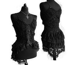 Victorian Goth Lace Somnia Romantica Top by Marjolein Turin
