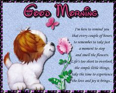 Cute card to wish someone a good morning and a great day. Free online Stop And Smell The Flowers ecards on Everyday Cards Morning Hugs, Good Morning Cards, Good Morning Gif, Good Morning Wishes, Healing Wish, Online Stop, Im Thinking About You, Cute Baby Bunnies, Wishes For You