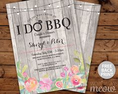 I DO BBQ Floral Invitation #contest