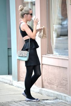 #fashion #blogger Lacy Rose in a Deb Shops #peplum dress