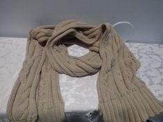 17.47$  Buy now - http://viwvd.justgood.pw/vig/item.php?t=nk7b6n31848 - Calvin Klein Lurex Trim Cable Knit Scarf - HEATHER ALMOND , Orig :$58.00