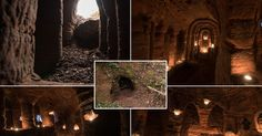 It might look like an ordinary rabbit's hole, but this tunnel unearths a stunning cave. The unassuming hole reveals a cave which is hidden less than a meter beneath a farmer's field. The untouched caves, in Shropshire, UK date back 700 years when they were used by followers of the Knights Templars – a medieval religious order