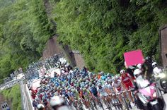 The peloton en route to Falzes in stage 16 of the Giro d'Italia.