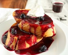 Blueberries and Cream French Toast - Cooking Classy