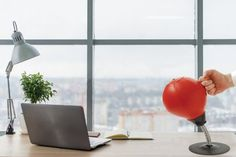 Stress Buster Punching Ball - - Frustrated at office? No worries, we know you cant hit people no matter how frustrated or stressed you are. But you have this choice called Stress Buster Desktop Punching Ball. Hit it hard again and again until you feel good. This spring ball can attach at any surface instantly.