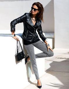 Egal ob Hose, Oberteil oder Jacke – Der Lederlook macht aus Ihrem Outfit immer ein Highlight.
