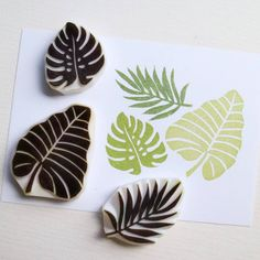 "Gefällt 1,177 Mal, 22 Kommentare - Jiahui | Handcrafted stamps (@parade.made) auf Instagram: ""This set of tropical leaves is one of the bestsellers in the shop. We've shipped many sets of them…"""