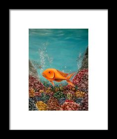 Framed Art Print,  underwater,world,scene,fish,ocean,life,nature,corals,reefs,bubbles,sea,water,depth,goldfish,colorful,multicolor,blue,beautiful,images,fine,art,oil,painting,contemporary,scenic,modern,virtual,deviant,wall,art,beautiful,awesome,cool,artistic,artwork,for,sale,home,office,decor,decoration,decorative,items,ideas