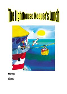 FREE - activity booklet based on this lovely book - includes activities such as dictionary definitions, word work, describe the characters task, word search and many more. Free Activities, Kindergarten Activities, Lighthouse Keepers Lunch, Procedural Writing, English Reading, Sea And Ocean, Children's Literature, Word Work, Teaching English