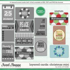 Cindy's Layered Cards: Christmas Mini by Cindy Schneider Perfect for Project Life