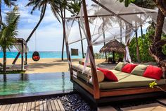 One & Only Reethi Rah resort in Maldives Maldives Resort, Exotic Places, Beautiful Hotels, One And Only, Outdoor Furniture, Outdoor Decor, Luxury Travel, Around The Worlds, Relax