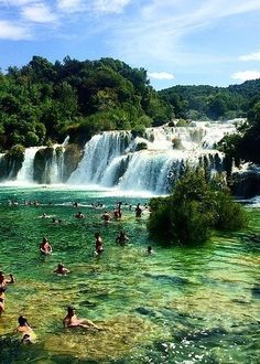 Take a dip in this Croatian river filled with tiny waterfalls. Source: Instagram user jakeinthebay6