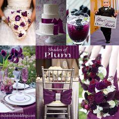 Plum Wedding Color   #exclusivelyweddings