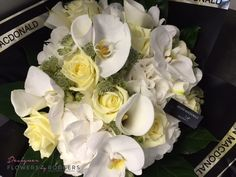 Deluxe Rose Lily and Orchid Hand tied Rose Lily, Luxury Flowers, Flower Designs, Manchester, Orchids, Table Decorations, Floral, Gifts, Presents