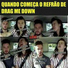 Eu sou o Harry quando toca Drag Me Down One Direction Zayn Malik, One Direction Harry, One Direction Memes, Twenty One Pilots, Bts Memes, Funny Memes, Famous Memes, American Songs, Harry Styles Memes