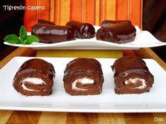 Una versión casera de esos pastelitos tan entrañables!! Choco Chocolate, Chocolate Desserts, Crepes, Sweet Cooking, Whoopie Pies, Pastry Cake, Sweet Recipes, Cupcake Cakes, Cupcakes