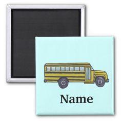 Custom School Bus Magnet
