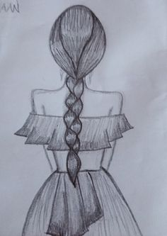Art Drawings Sketches, Watercolor Paintings, Coloring Pages, Diy, Decor, Draw, Ideas For Drawing, Girls Braids, Sister Pictures