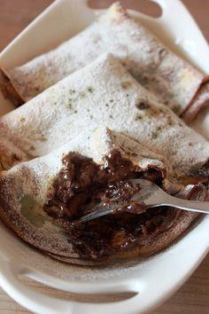 Fırınlanmış Nutellalı Krepler