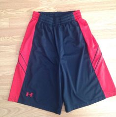 Under Armour Mens Basketball Shorts Size Medium Black & Red Preowned Must See Us #UnderArmour #Athletic