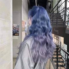Hair Dye Colors, Ombre Hair Color, Purple Hair, Hair Inspo, Hair Inspiration, Hair Color Underneath, Korean Hair Color, Dye My Hair, Aesthetic Hair