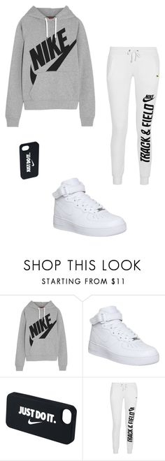 """Only nike!"" by emilykida ❤ liked on Polyvore featuring NIKE"