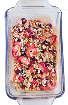 Ingredients: 1 cup oats, 1/2 cup dried fruit, 1/4 tsp baking soda, 1/3 cup... http://chocolatecoveredkatie.com/2015/04/09/low-fat-granola-recipe/ @choccoveredkt