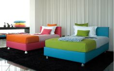 """Bed with simple and essential lines // Letto dalle linee semplici ed essenziali (Letto matrimoniale / Double Bed """"Notturno 2"""" by Flou) #Beds #Bedroom #Letto #InteriorDesign #HomeDecor #Design #Arredamento #Furnishings #kids #child #children #baby #colors #colourful #colorful"""