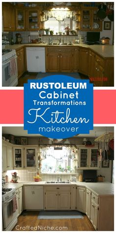 Rustoleum Cabinet Transformations Kitchen Makeover | Crafted Niche - a lifestye blog that shares DIY crafts, recipes and tutorialsCrafted Niche – a lifestye blog that shares DIY crafts, recipes and tutorials