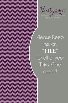 Keep me on file Fall Add a 31 nail file and pop this into the mail! Thirty One Fall, Thirty One Party, Thirty One Gifts, 31 Gifts, Hostess Gifts, Party Market, Thirty One Consultant, Independent Consultant, Thirty One Business