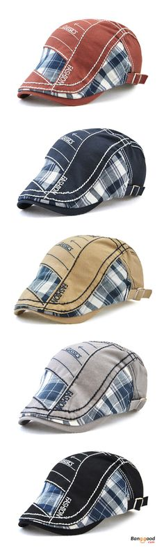US$10.99+Free shipping. Men Caps, Beret Hat, Golf Gentleman Cap, Cotton, Washed, Stripes, Embroidery. Color: Red Wine, Navy, Beige, Grey, Black. Shop now~