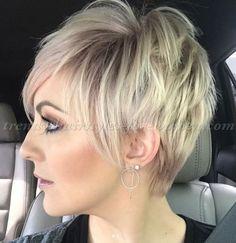 pixie haircut - blonde long pixie